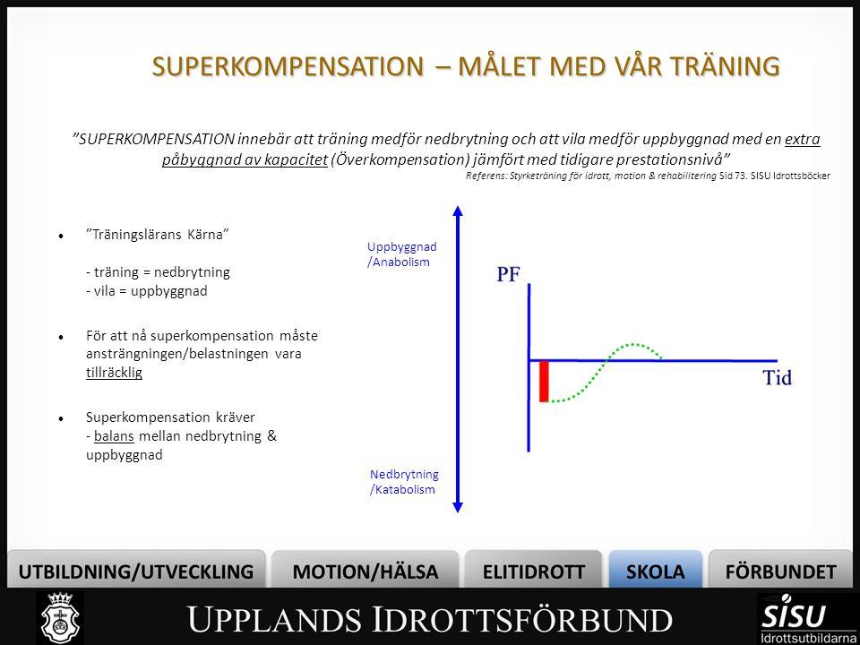 SUPERKOMPENSATION – MÅLET MED VÅR TRÄNING