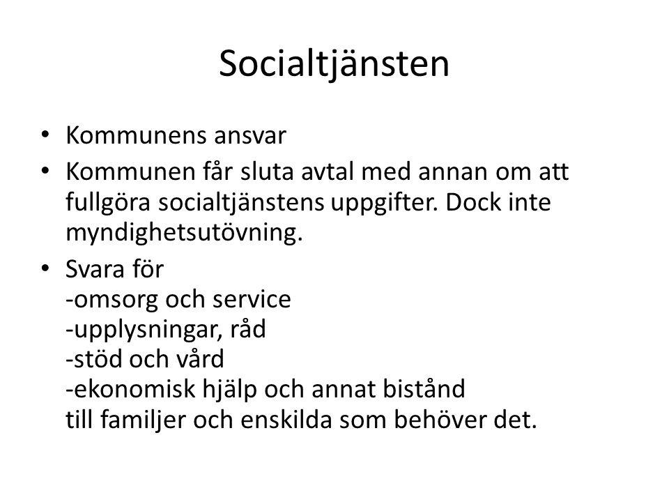 Socialtjänsten Kommunens ansvar