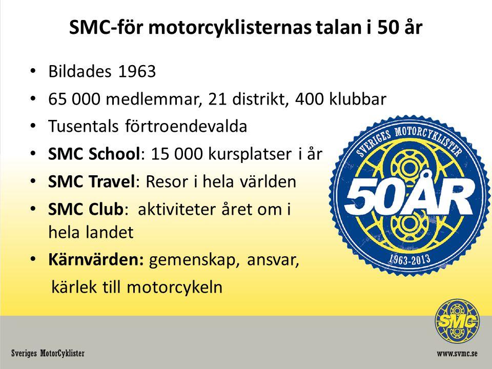 SMC-för motorcyklisternas talan i 50 år