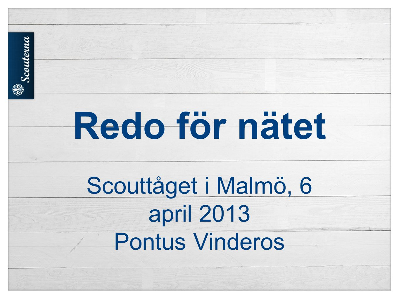 Scouttåget i Malmö, 6 april 2013 Pontus Vinderos