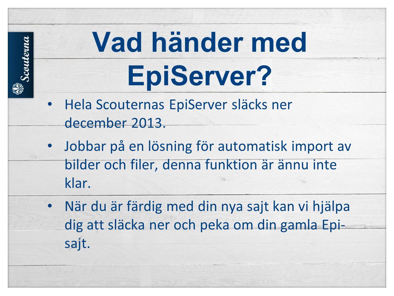 Vad händer med EpiServer