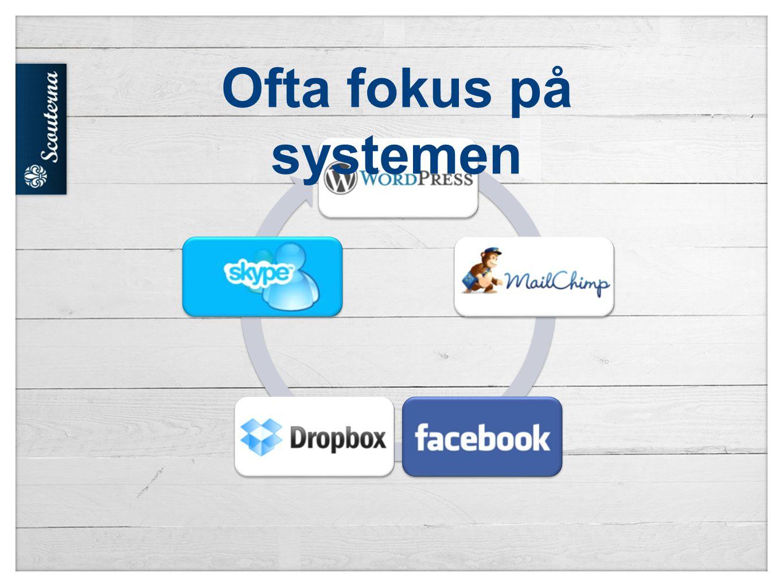 Ofta fokus på systemen På nätet finns det massa verktyg för att ge information.