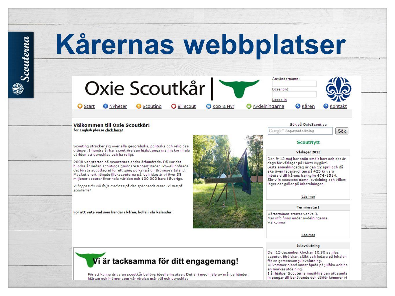 Kårernas webbplatser