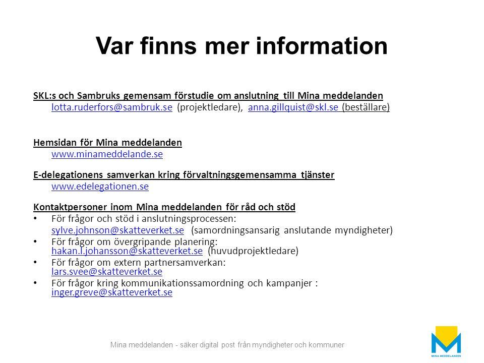 Var finns mer information