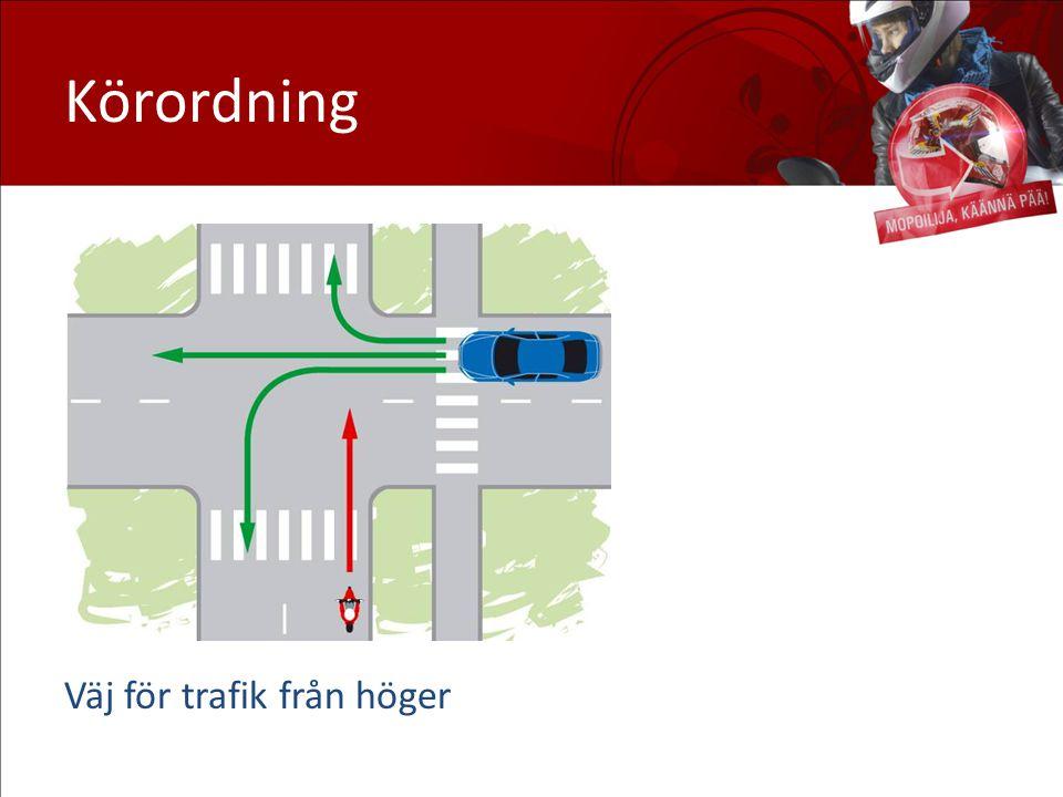 Körordning Väj för trafik från höger Väjning