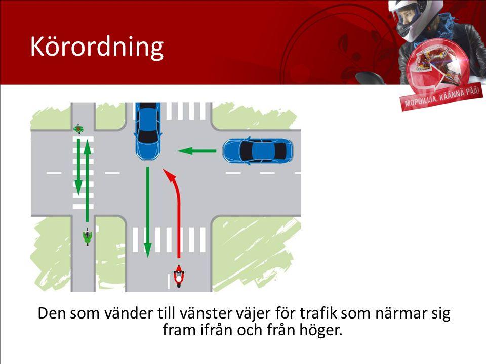 Körordning Väjning: