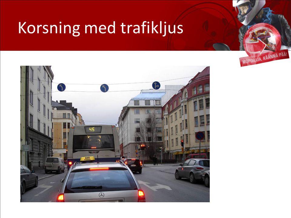 Korsning med trafikljus