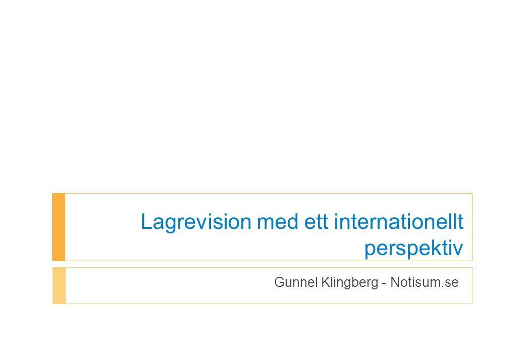 Lagrevision med ett internationellt perspektiv