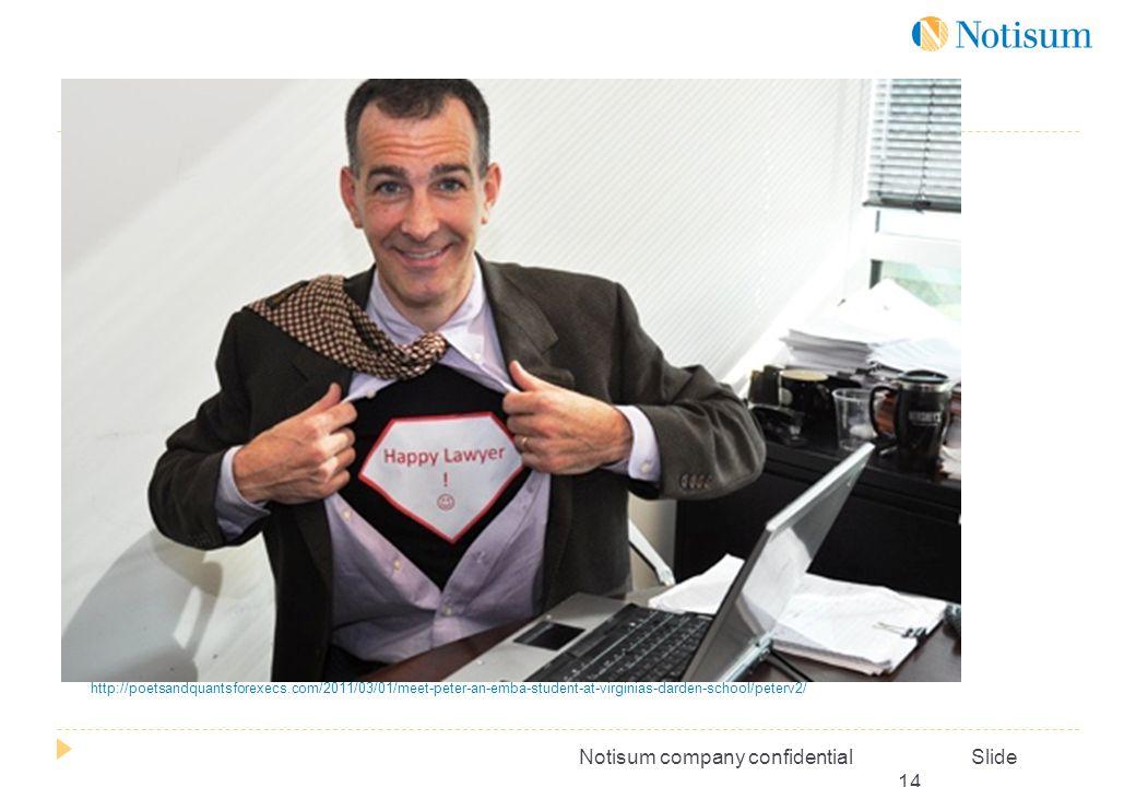 Notisum company confidential Slide 14