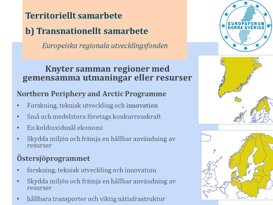 Knyter samman regioner med gemensamma utmaningar eller resurser