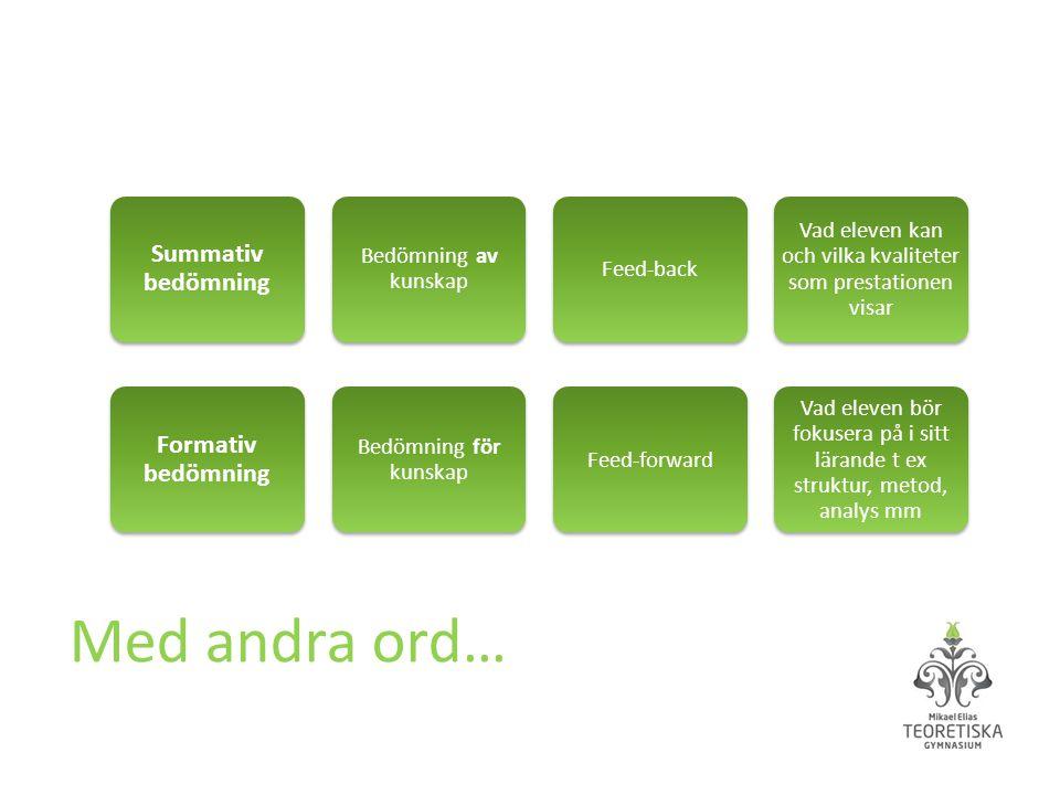 Vad eleven kan och vilka kvaliteter som prestationen visar