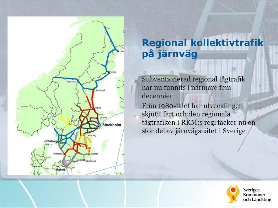 Regional kollektivtrafik på järnväg