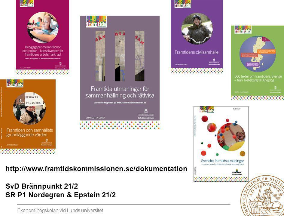 http://www.framtidskommissionen.se/dokumentation SvD Brännpunkt 21/2 SR P1 Nordegren & Epstein 21/2