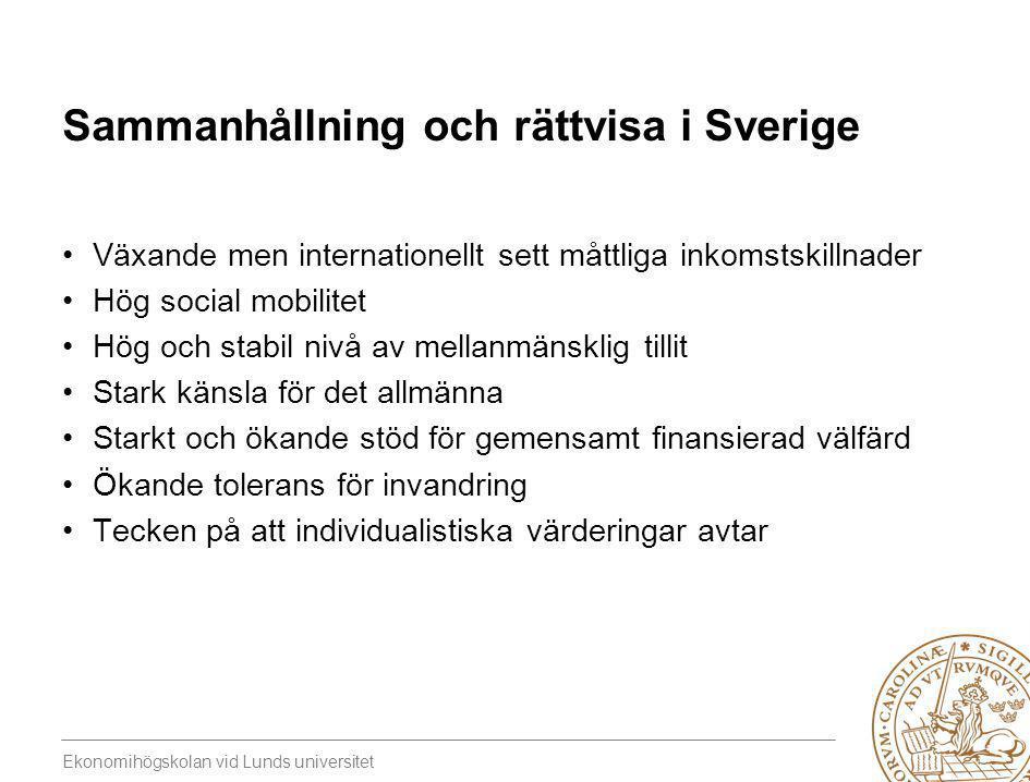 Sammanhållning och rättvisa i Sverige