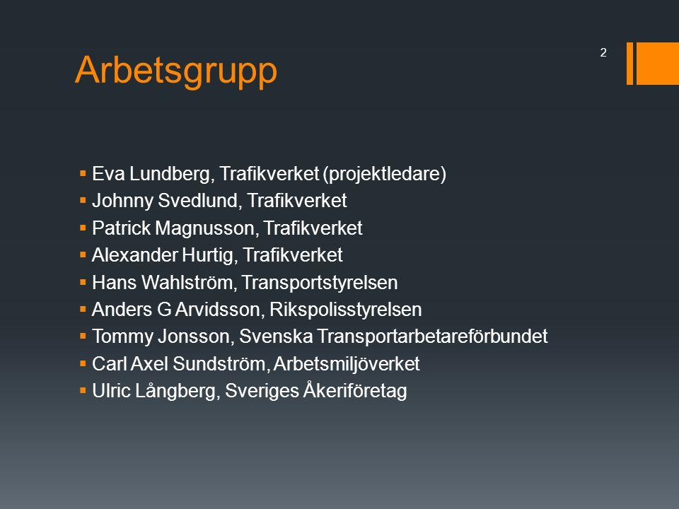 Arbetsgrupp Eva Lundberg, Trafikverket (projektledare)