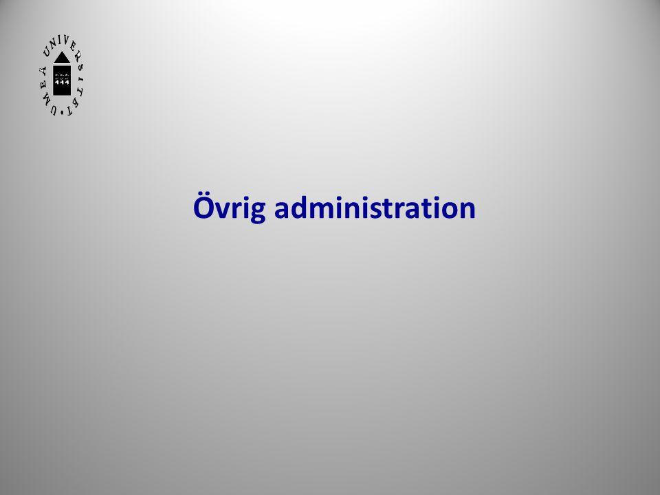 Övrig administration