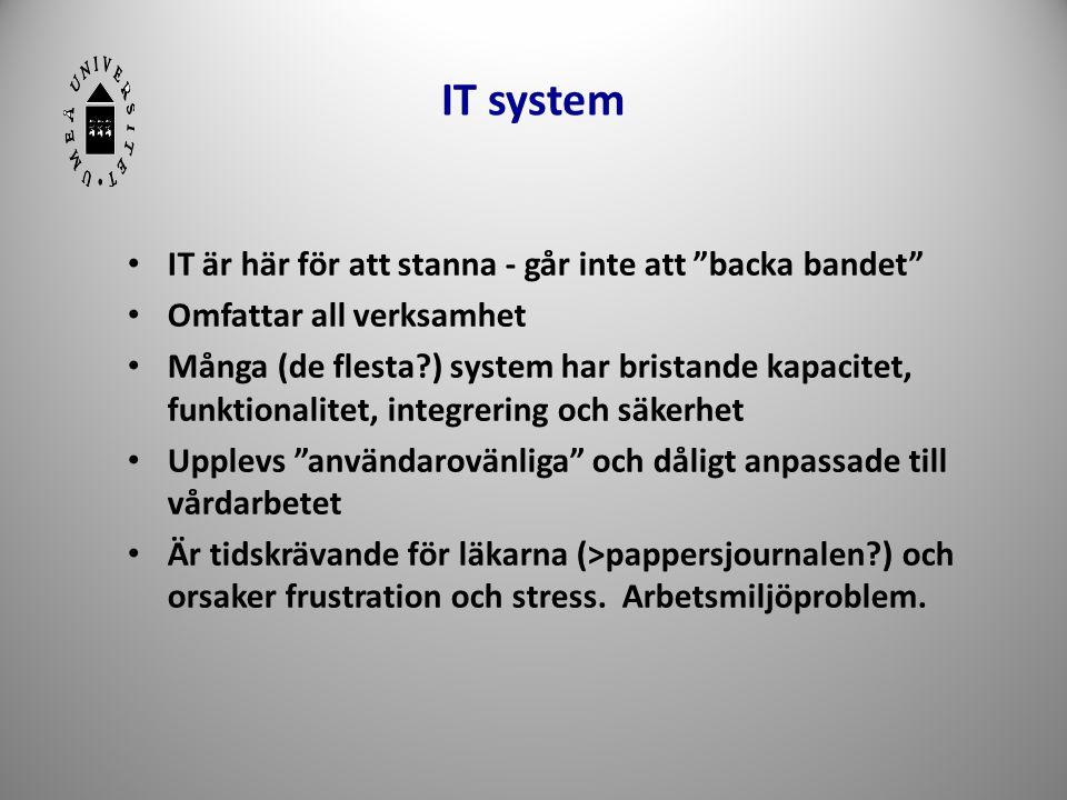 IT system IT är här för att stanna - går inte att backa bandet