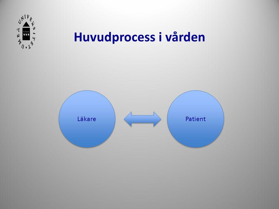Huvudprocess i vården Läkare Patient