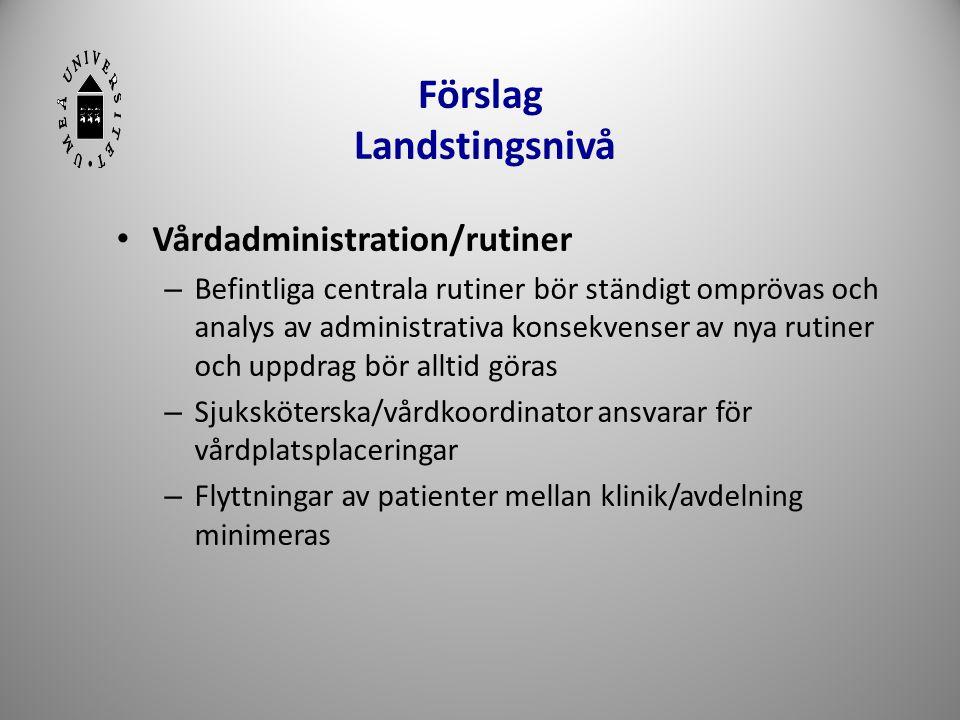 Förslag Landstingsnivå