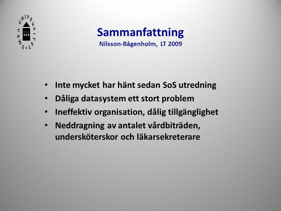 Sammanfattning Nilsson-Bågenholm, LT 2009