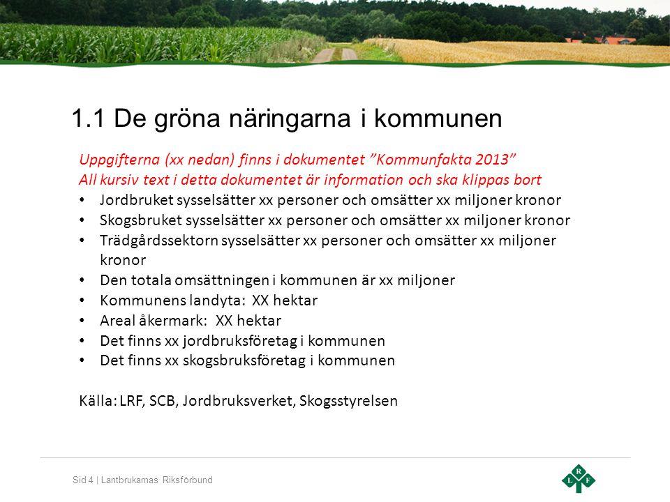 1.1 De gröna näringarna i kommunen