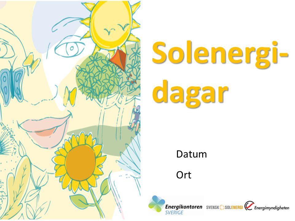 Solenergi- dagar Datum Ort