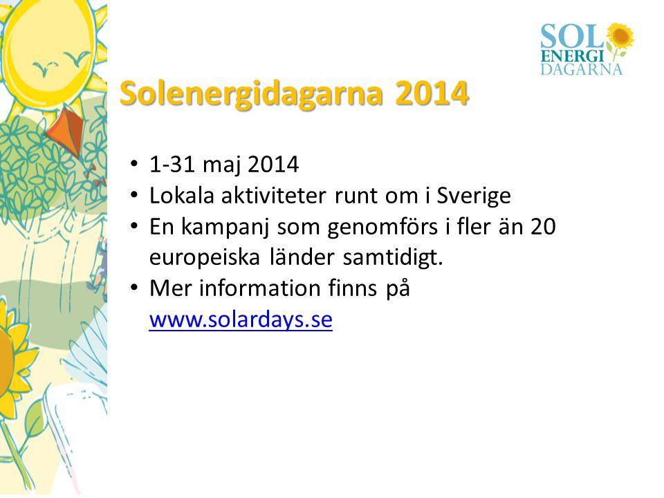 Solenergidagarna 2014 1-31 maj 2014