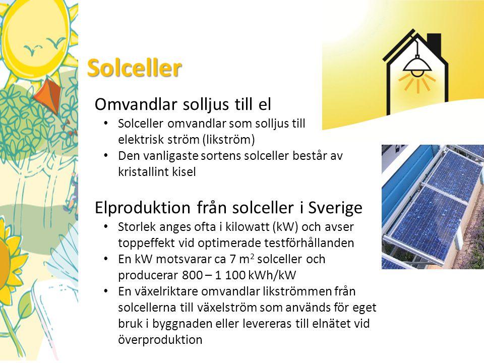 Solceller Omvandlar solljus till el
