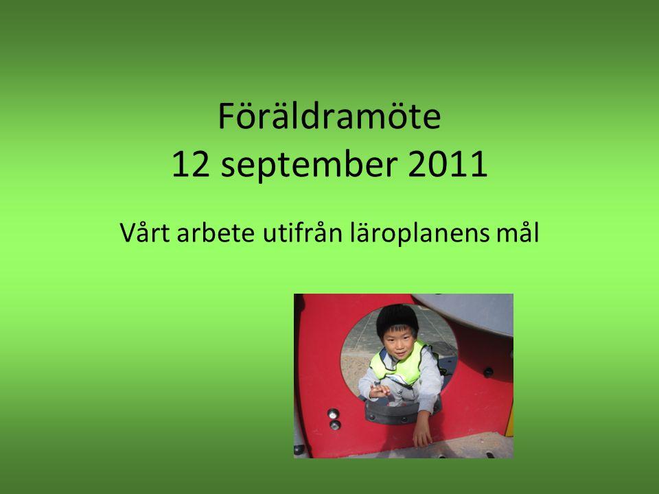 Föräldramöte 12 september 2011