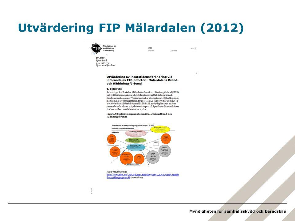 Utvärdering FIP Mälardalen (2012)