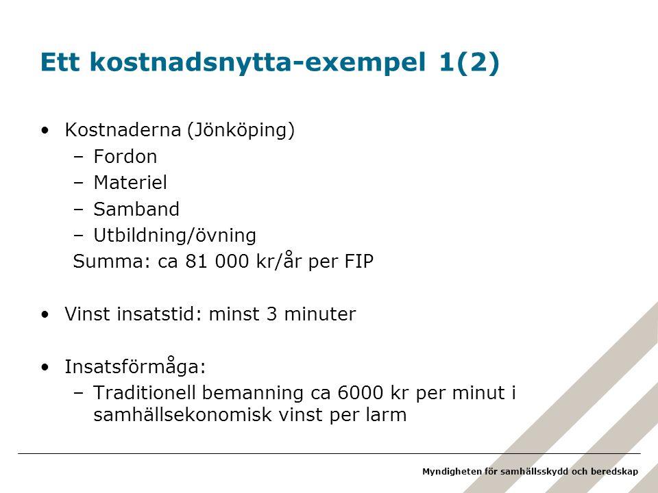 Ett kostnadsnytta-exempel 1(2)