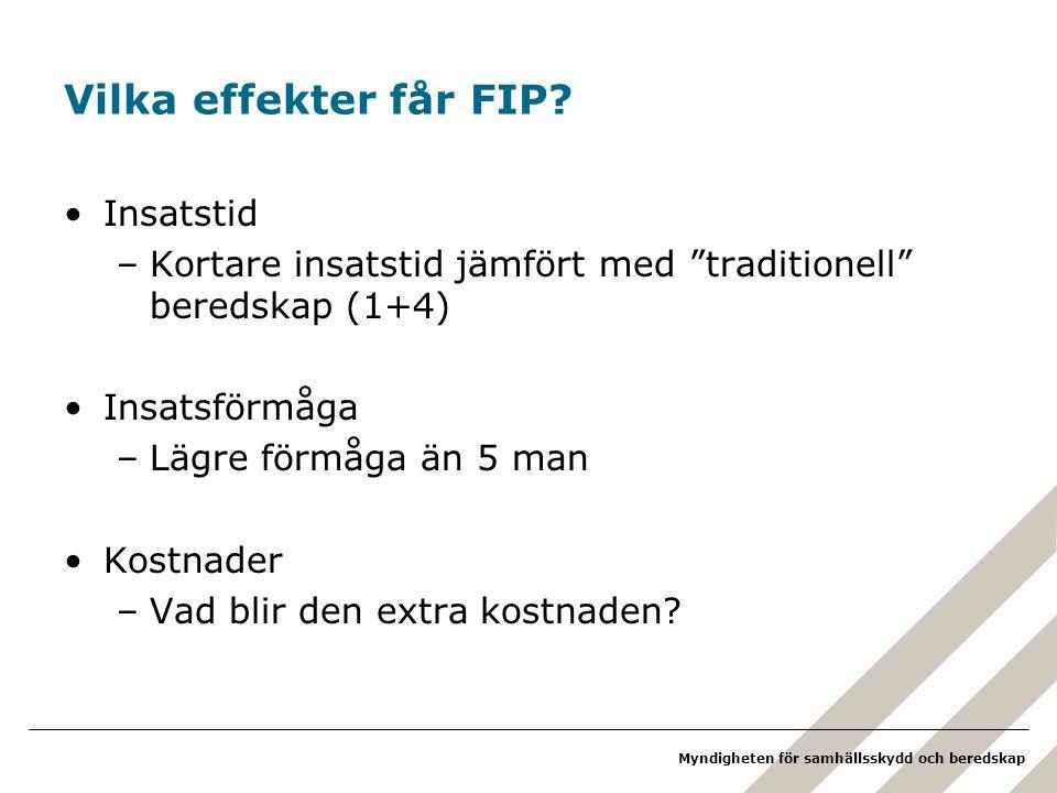 Vilka effekter får FIP Insatstid