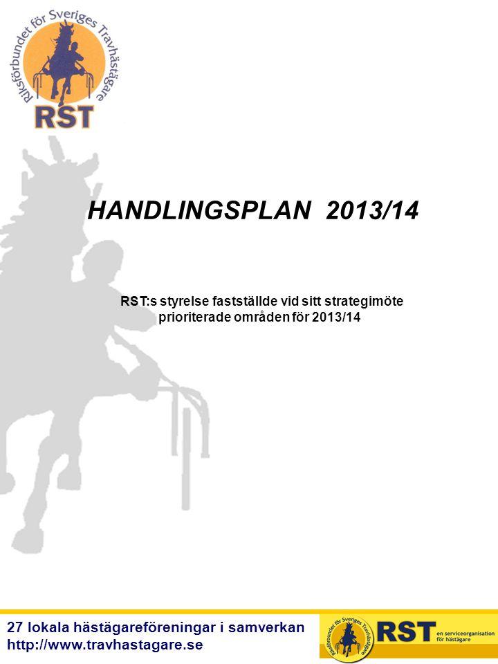 HANDLINGSPLAN 2013/14 RST:s styrelse fastställde vid sitt strategimöte. prioriterade områden för 2013/14.