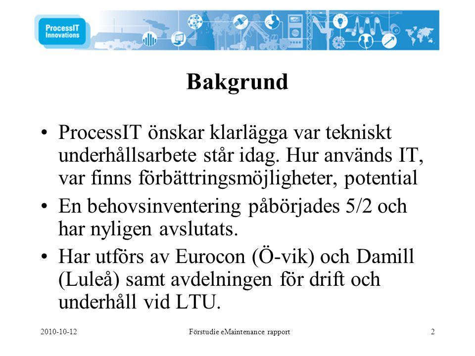 Förstudie eMaintenance rapport