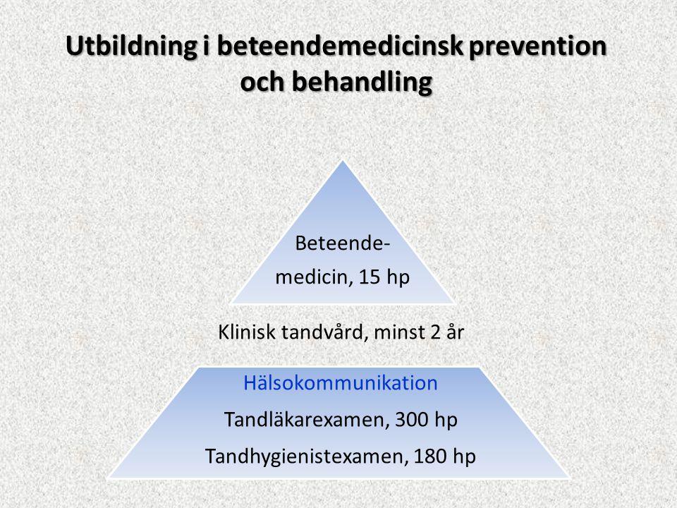 Utbildning i beteendemedicinsk prevention och behandling