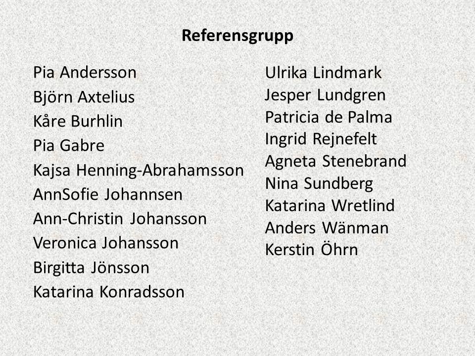 Referensgrupp Ulrika Lindmark