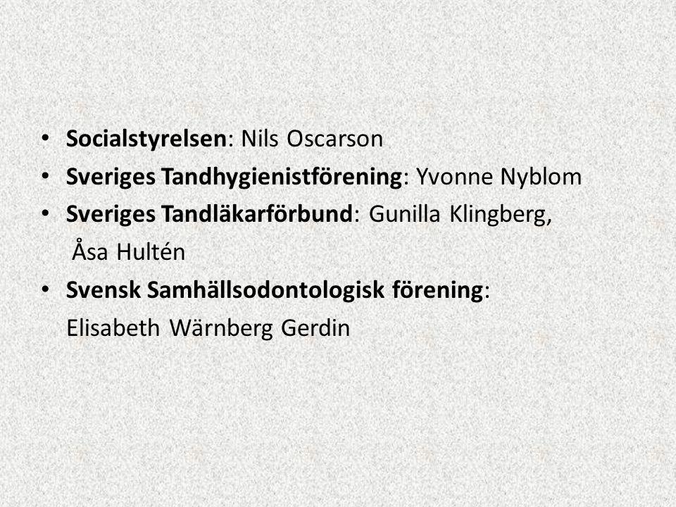 Socialstyrelsen: Nils Oscarson