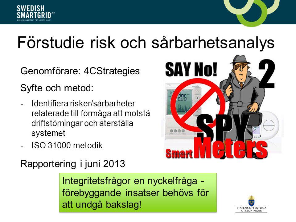 Förstudie risk och sårbarhetsanalys