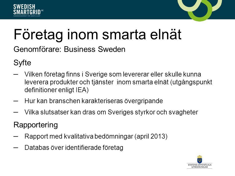 Företag inom smarta elnät