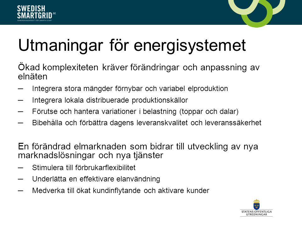 Utmaningar för energisystemet