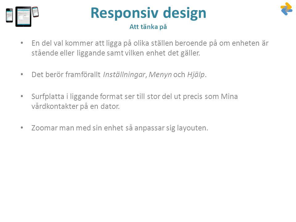 Responsiv design Att tänka på