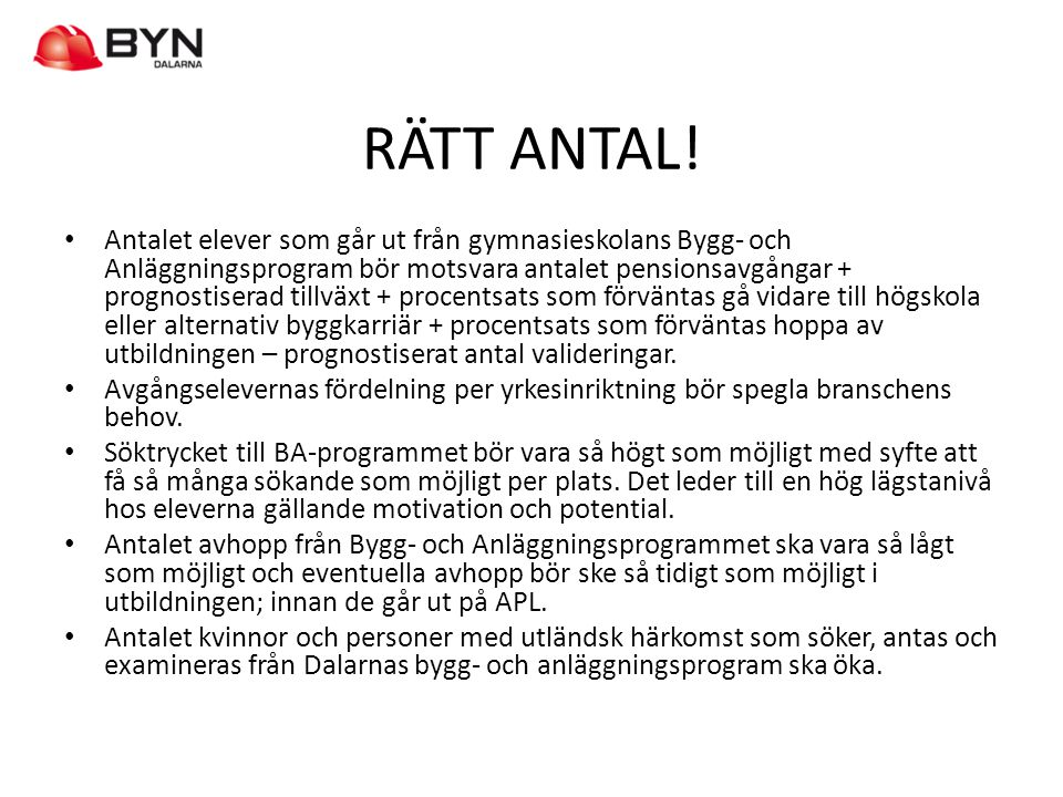 RÄTT ANTAL!
