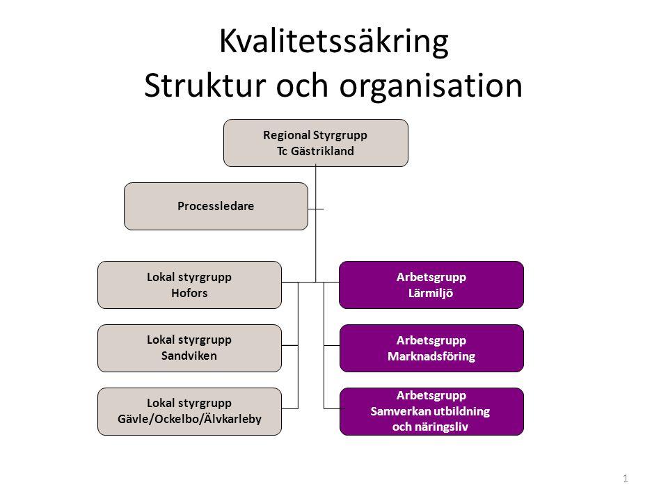 Kvalitetssäkring Struktur och organisation