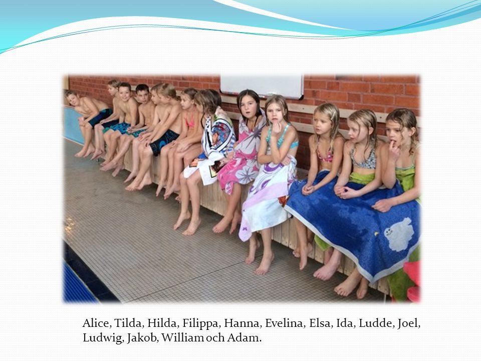 Alice, Tilda, Hilda, Filippa, Hanna, Evelina, Elsa, Ida, Ludde, Joel,