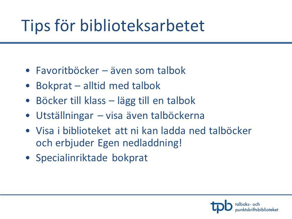 Tips för biblioteksarbetet