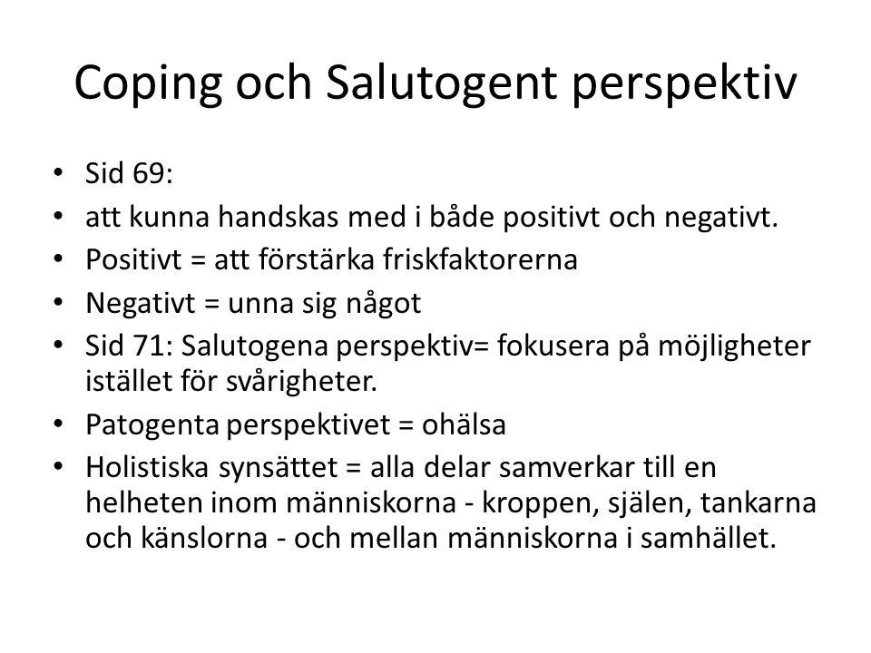 Coping och Salutogent perspektiv
