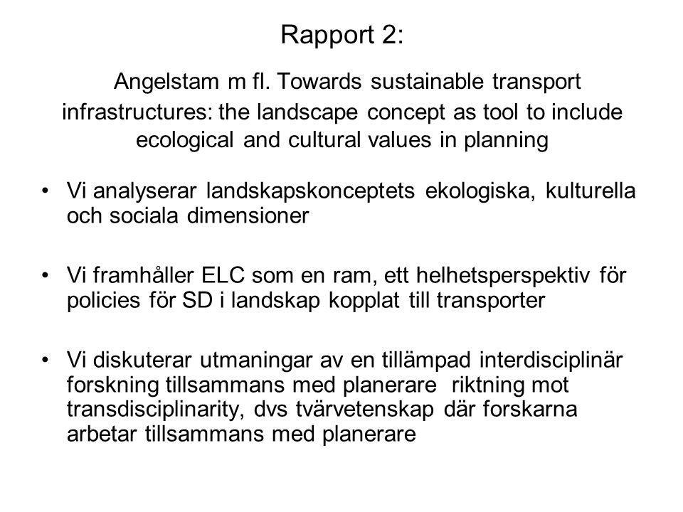 Rapport 2: Angelstam m fl