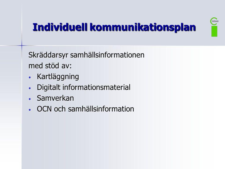 Individuell kommunikationsplan