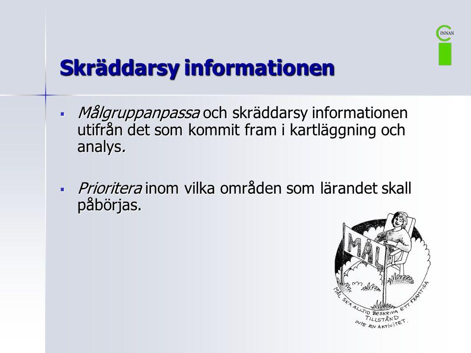 Skräddarsy informationen