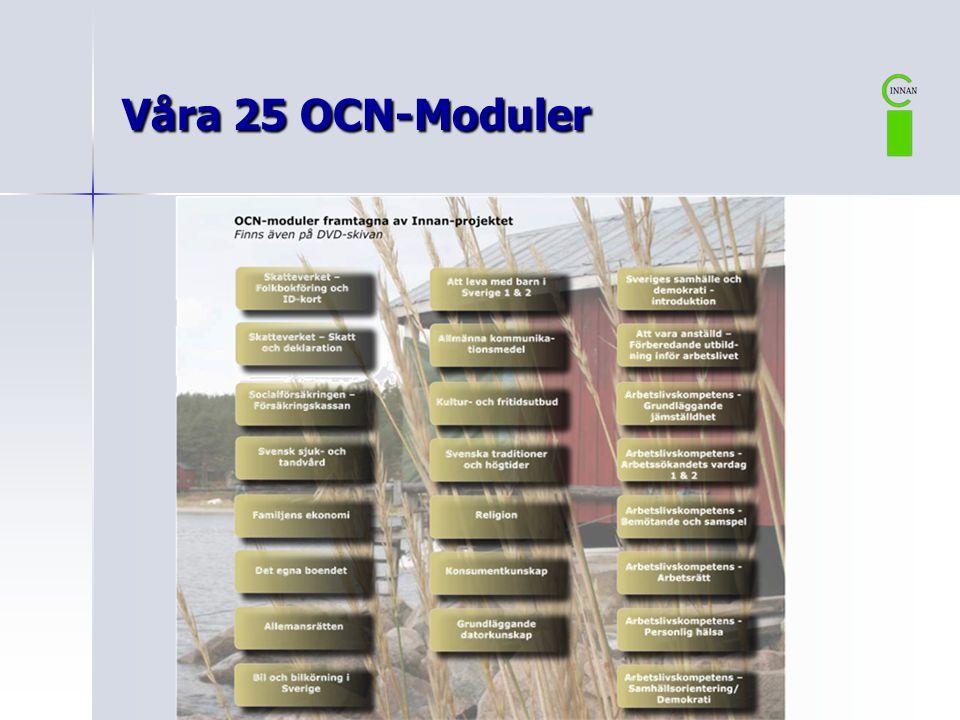Våra 25 OCN-Moduler